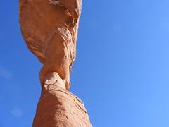 2008_0429Sheeba0144 (tomzieber) Tags: blue sky utah sandstone arch natural archesnationalpark delicatearch