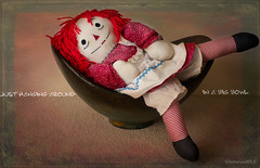 a bowl full of Annie..... (bonnie5378) Tags: bowl textured makingfriends raggedyann bej ilovemypics photosofqualitytosmileabout tatot joessistah april2013 theworldofeleganttextures creativephotocafe