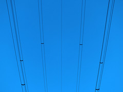 Lines in the sky (Lukinator) Tags: above city blue black by neck skinny stream time side himmel same stadt mast thin blau fein simple minimalistic oben exclusive minimalist schwarz sparse lean dnn simultaneously strommast linien simpel minimalistisch exklusiv contemporaneous thinly gleichzeitig rarefied mager nebeneinander sprlich