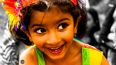 Pretty Indian Little girl Dancer with pretty eyes at Asha Stanford Holi Festival 2013 (tibchris) Tags: festival fun paint indian smiles stanford asha holi 2013 snapchris