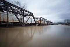 Salt Filled Train Cars - Friday (Rudy Malmquist) Tags: mi river big long exposure flood michigan grand rapids filter lee gr heavy rains density stopper neutral 2013