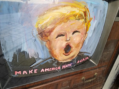 Trump TV (quinn.anya) Tags: trump painting tv hate