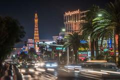 Las Vegas at night (Peter Connell) Tags: lasvegas citylights eiffeltower cityscape