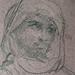 CHASSERIAU Théodore,1846 - Arabe debout, retenant un pli de son Burnous (drawing, dessin, disegno-Louvre RF24411) - Detail 24