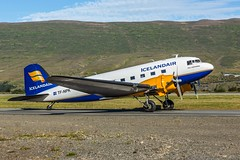 Beautiful Douglas DC 3 (Einar Schioth) Tags: douglasdc3 airplane akureyri akureyriairport eyjafjordur day sky summer sunshine canon clouds field photo picture outdoor iceland sland flighthistory einarschioth