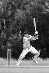 Srikanth (Willers1404) Tags: cricket warwick sunny sport batting india six four boundary dismissed wicket cryfield monochrome nikon 80200 champions victory game drive