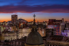 Buenos Aires (karinavera) Tags: travel nikond5300 buenosaires night urban sunset argentina cloudy exclusive cityscape longexposure view city roofs buildings downtown lights microcentro aerial community architecture skycrapers caba drone
