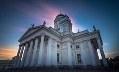 Tuomiokirkko (Mika Laitinen) Tags: helsinki uusimaa finland fi church longexposure sunset outdoor sky dusk city oldbuilding color wideangle canon7dmarkii tokina1116mm