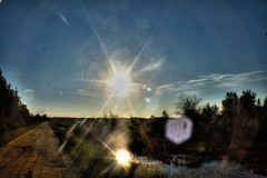 double sun (f.tyrrell717) Tags: double sun star road whit bog