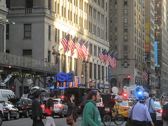 Rush Hour Crowd Walking Past Crime Scene 7th Ave 2016 NYC 5441 (Brechtbug) Tags: akram joudeh attacked an offduty nypd officer with 11inch cleaver from his waistband near penn station height evening rush hour thursday wounding cop face before being shot 18 times by police nyc 2016 midtown manhattan 7th ave 32nd street crowds checking out scene 9152016 new york city crime