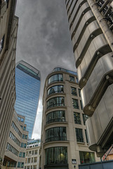 Lloyd's Building on right with Walkie Talkie in background. (jim_2wilson) Tags: architecture jimwilson london walkietalkie lloydsbuilding lloydsoflondon hdr photomatixpro dxoopticspro minolta1735mmf284 sonya99