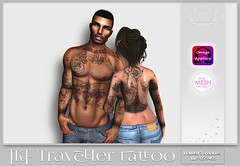 [K]- traveller tattoo Exclusive for Applique event (XxnenikahstylexX) Tags: event second life tattoo virtual new promo applique sexy traveller unisex male female cool people art couple love