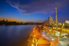 Putra Mosque In Blue Hour (by nelzajamal) Tags: masjid masjidputra putrajaya sunset sunrise bluehour malaysia kualalumpur leefilter mosque