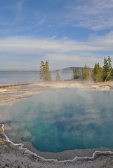 USA - Wyoming - Yellowstone National Park - West Thumb (Harshil.Shah) Tags: united states america wyoming wy yellowstone national park yellowstonenationalpark west thumb mist hot pool water thermal spring geothermal volcano volcanic natural nature