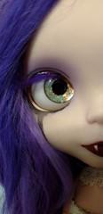 Late night sneak peak (Dusk~) Tags: blythe ooak custom doll vampire copper crying purple