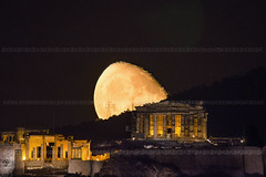 Moonrise over the Acropolis of Athens       (belas62) Tags: parthenon athens acropolis moonrise