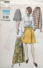 7450 (mrogers1@uw.edu) Tags: skirt sewingpatterncollection 1960s vintage sewing patterns vogue skirts wrap pockets a line dirndl gathers maxi evening length sidebuttoned front button closing dart fitted