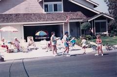 Steve Organizing the Games - c1985 (kimstrezz) Tags: 1985 fourthofjuly 4thofjuly july4th blockparty steveoleary kaseyoleary nancyhaas nana