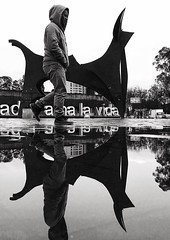 Water Full Length Lifestyles Standing Water Person Day Puddle Rainy Days Winter Blackandwhite Reflection Pedestrian Walking Around IPhone SE IPhoneography Iphoneonly IPhone Contrast Quito Ecuador Ecuador Art Sculpture (therafa) Tags: water fulllength lifestyles standingwater person day puddle rainydays winter blackandwhite reflection pedestrian walkingaround iphonese iphoneography iphoneonly iphone contrast quito ecuador ecuador art sculpture