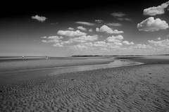** (donvucl) Tags: norfolk seashore sand clouds sky textures people comp bw blackandwhite nikond7000 donvucl holme