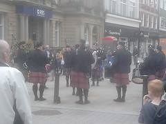Bolton, Lancashire, pipe band (rossendale2016) Tags: charity drums bagpipes scotland scots kilt scottish band pipe lancashire bolton