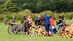 Cannons (Etrusia UK) Tags: uk greatbritain trees england history festival geotagged costume nikon war zoom unitedkingdom britain wheels northamptonshire sigma places medieval historic telephoto civilwar gb historical subject recreation 70300mm reenactor reenactors cannons englishheritage sigmalens festivalofhistory 70300mmlens historicreenactment sigma70300mm d80 sigma70300mmlens nikond80 kelmarshhall costumedactors geo:lat=52411949 geo:lon=0923924