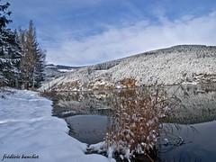 reflets au barrage du Dorlay 1 (frdric banchet photographe) Tags: nature eau hiver reflet ciel nuage paysage foret barrage montagnes rhonealpes pilat parcdupilat