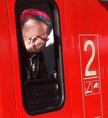Bahn-Iro (NiceBastard) Tags: munich münchen punk mohawk sbahn iro iroquois irokesenschnitt irokese mohawkhairstyle lokführer iroquoise crêteiroquoise