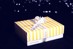 (Fajer Alajmi) Tags: white black yellow shop strawberry bokeh chocolate strawberries cocoa confectioners