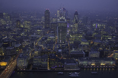 London from The Shard, number 2 (herd of mongeese) Tags: london thecity bluehour theshard theviewfromtheshard