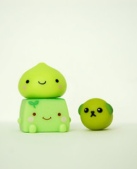 green team [11/365] (StrawberryCuteness) Tags: dog green toys japanese tofu bean kawaii onsen edamame figures sprout kun manju hannari mameshiba
