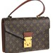 3023. Leather Monogram Canvas Bag, Louis Vuitton