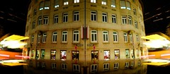 Diptych By Night 52/365 (donlunzo16) Tags: day52 day52365 3652013 365the2013edition 21feb13nightlightmirroreddiptychcartopstuttgartcolorlightbeamhousewindowstrain