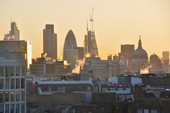 London Skyline (Manuel.A.69) Tags: city uk sunset england urban panorama london tower heron st skyline skyscraper paul google high europe flickr rooftops cranes urbano rise londra tower42 urbain appert 122leadenhallstreet