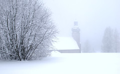Winter Landscape (Adabo!) Tags: white snow church 35mm germany nikon saxony d40x khnhaide