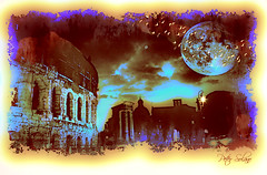 Una Bella Notte Di Luna A Roma (Peter Solano. Pursuing a dream!) Tags: city roma history birds night italian ancient ruins luna colosseum explore