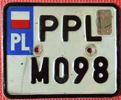 POLAND 2000's ---MOPED LICENSE PLATE with HOLOGRAM DECAL (woody1778a) Tags: world auto canada cars car sign vintage edmonton photos tag woody plate tags licenseplate collection number photographs license plates foreign moped numberplate licenseplates numberplates licenses cartag carplate carplates autotags cartags autotag foreigns pl8s worldplate foreignplates platetag