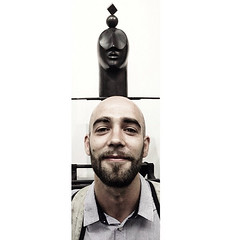 Portrait in front of my Bronze sculpture
