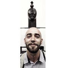 Portrait in front of my Bronze sculpture