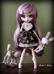 Playtime (pure_embers) Tags: uk horse cute bunny green girl fashion rose sisters dark asian doll pretty dolls candy room lavender planning wig pullip rocking playtime pure jun embers ruffle leeke obitsu leekeworld galene lavendarrose cakau pureembers