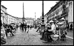 "The band of piazza Navona • <a style=""font-size:0.8em;"" href=""http://www.flickr.com/photos/89679026@N00/8521864602/"" target=""_blank"">View on Flickr</a>"