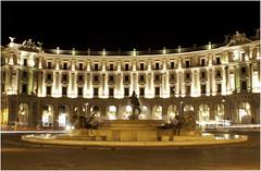PIAZZA DELLA REPUBBLICA 3 (FabioDiAlto) Tags: rome roma night luci capitale acqua fontana statua notte piazzadellarepubblica