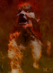 Let them burn... (Bactrian Arts) Tags: photoshop fire vampire flames burn them let daemon
