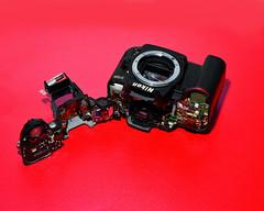 Nikon D7k with Cosmetic damage.... (Martin David Photography) Tags: nikon accident fallen damage cosmetic d7k d7000 martindavidphotography