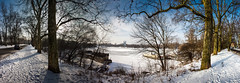 Winterhafen - Panorama (diwan) Tags: city schnee trees winter sky panorama snow nature canon germany geotagged deutschland eos see frozen place stitch natur magdeburg stadt bume panoramix winterhafen fotogruppe ptgui saxonyanhalt sachsenanhalt 2013 zugefroren rotehorn canoneos650d fotogruppemagdeburg geo:lon=11649459 geo:lat=52126459