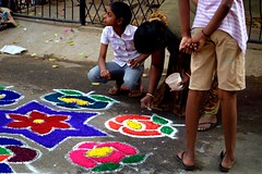 19 (akila venkat) Tags: street art colours patterns bangalore rangoli indianart