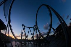 The Hulk at dusk (Explored!) (Groucho Dis) Tags: orlando florida fisheye universalstudios islandsofadventure smcpentaxdafisheye1017mmf3545edif