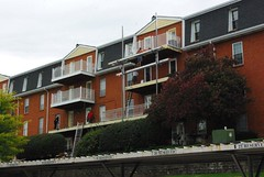 AridDek and Wahoo Rail by Wahoo Decks replace wood decking at Village Green Apartments in St. Louis, Missouri.