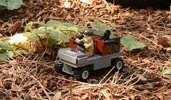 M274 Mule (Main) (It's Aaron) Tags: outside outdoors grey gun lego m1 military awesome rifle helmet vietnam pot jungle legos figure americans prints guns build figures figs prototypes minifigure brickarms