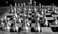 What would you move? (Chris Wood 1954) Tags: monochrome blackwhite arty chess aladdin artyfarty moves whitehavensnappersmonthlycomp